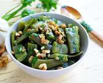 Cevizli Taze Fasulye Salatası Tarifi