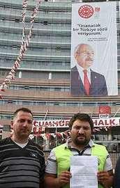 CHPnin işten attığı işçilerden açlık grevi!