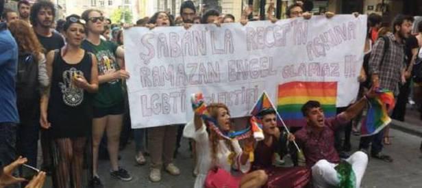 LGBT pankartına suç duyurusu