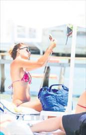 Sahilin selfie yıldızı