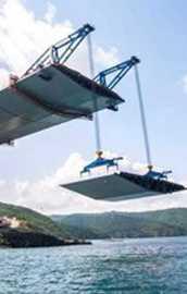 3. Köprü inşaatında kedi yolu tamamlandı