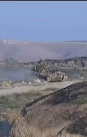 Türk tankını gören DAEŞliler böyle kaçtı