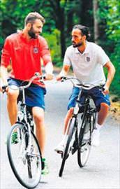 Trabzonsporun kampında bisiklet şov