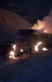 Araç yakan PKKlılara bombardıman