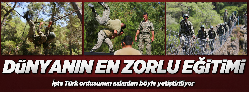 Türk askeri dünyanın en zorlu eğitimden geçiyor