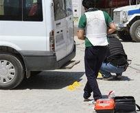Astsubaya aracında silahlı saldırı