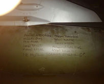 Füzelere şehit isimleri yazıldı