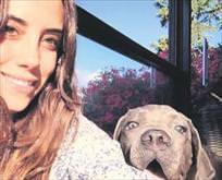 Köpeğiyle selfie