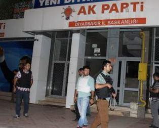 Diyarbakırda AK Parti binasına saldırı