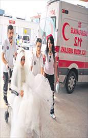 Düğün yerine hastaneye
