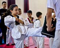 Gazzeli çocuklar tekvando öğreniyor