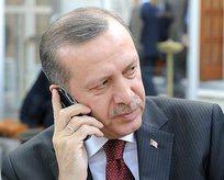 Erdoğandan taziye telefonu