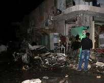 Sınırda bomba yüklü araç patlatıldı
