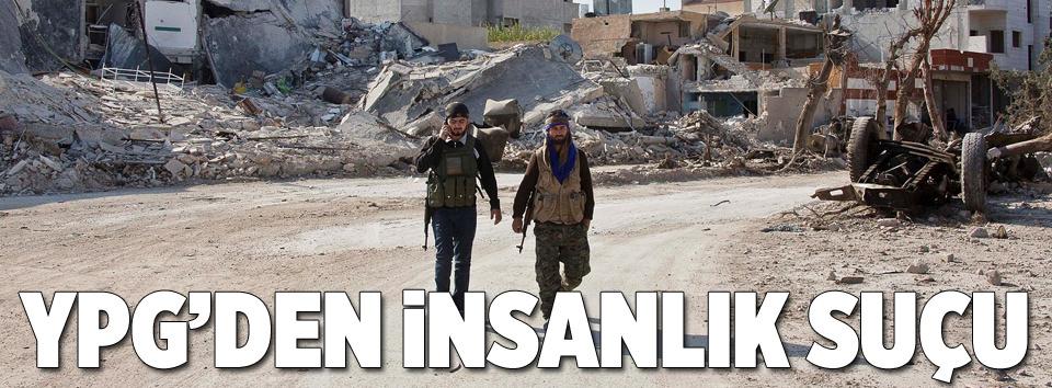 YPGden insanlık suçu