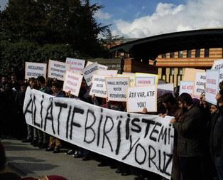 Şehir Üniversitesi öğrencilerinden protesto
