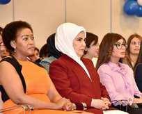 Emine Erdoğan ve lider eşlerinden okul ziyareti