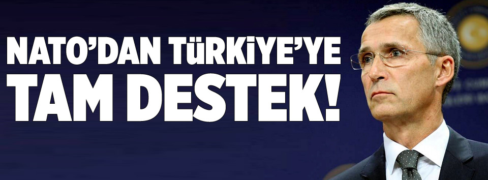 NATOdan Türkiyeye tam destek