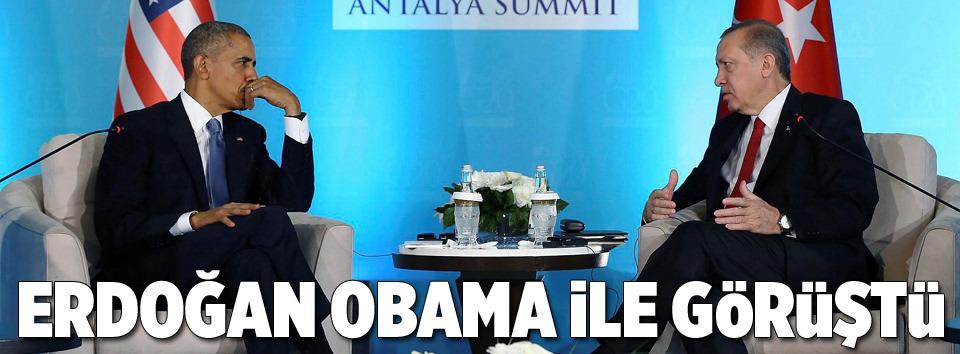 Cumhurbaşkanı Erdoğan Obama ile görüştü