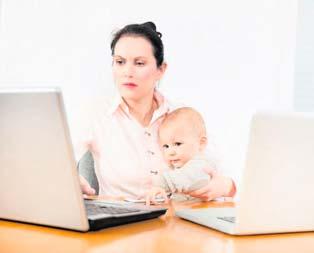 Çalışan anneye 300 euro destek