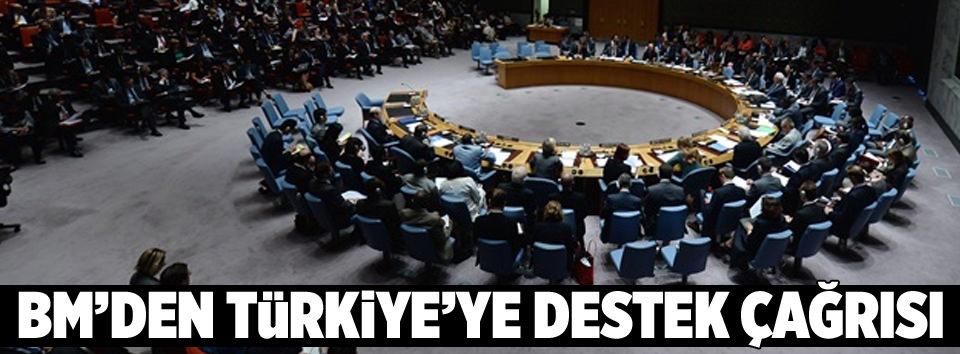 BMden Türkiyeye destek çağrısı