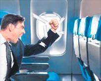 Uçakta yolcu krizi
