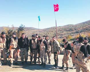 Keleste Türk bayrağı