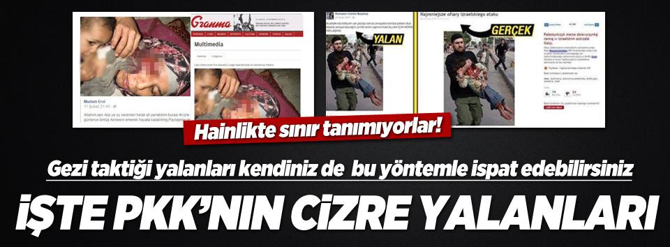 PKKnın Cizre yalanları