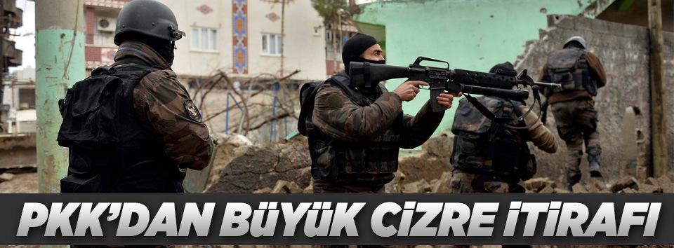 PKKdan büyük Cizre itirafı