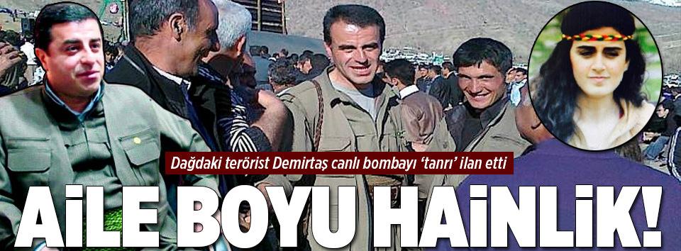 Terörist Demirtaştan PKKlı canlı bombaya övgü