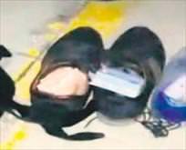 Para ayakkabıdan çıktı