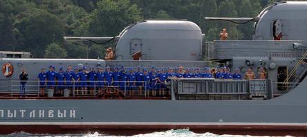 Rus gemisi Boğazdan böyle geçti