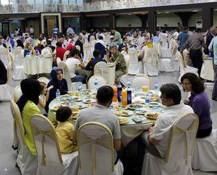 Şehit aileleri ile gaziler için iftar