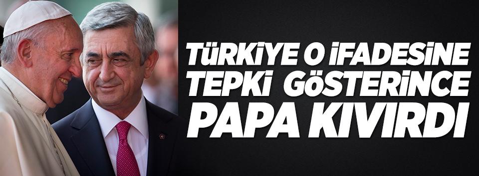 Papadan Türkiyeye cevap