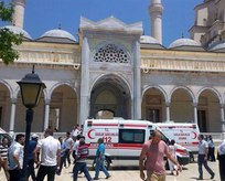 Camide canlı bomba alarmı