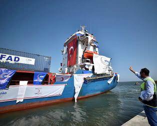 Anlaşma sonrası ilk gemi yola çıktı