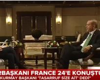 Cumhurbaşkanı Fransız televizyonuna konuştu