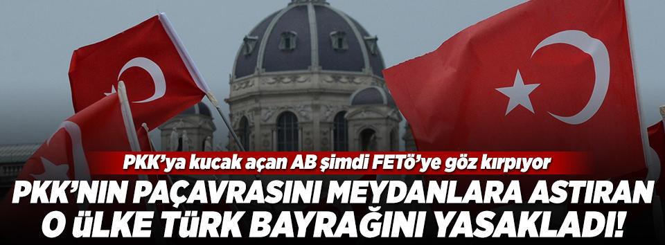 Avusturyada Türklere bayrak yasağı!