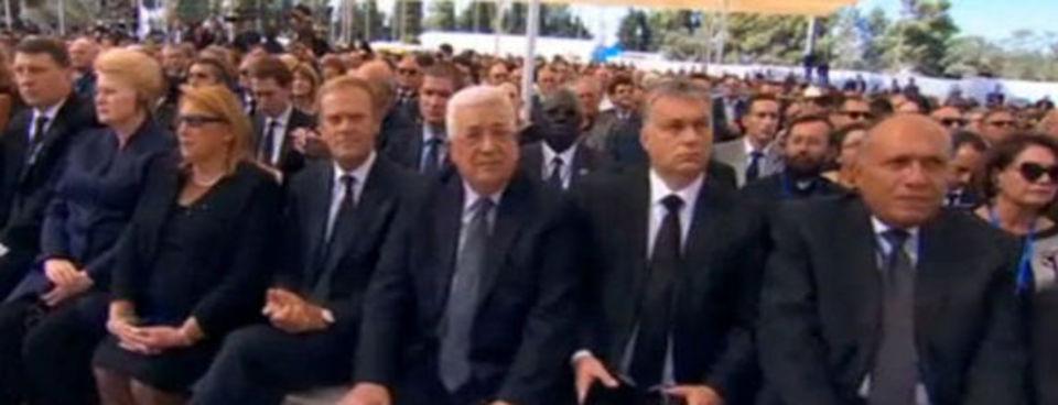 Peresin cenaze töreninden kareler