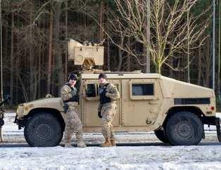 ABD ordusu Polonya'ya girdi