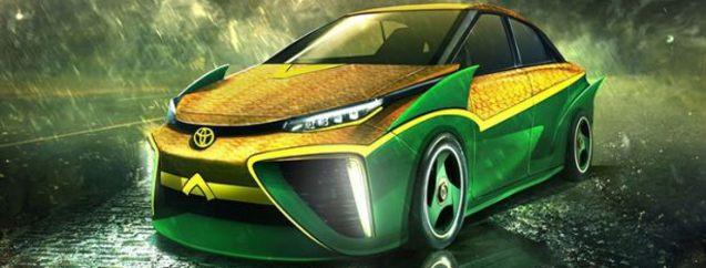 Süper kahramanlar bizim otomobillere binseydi...