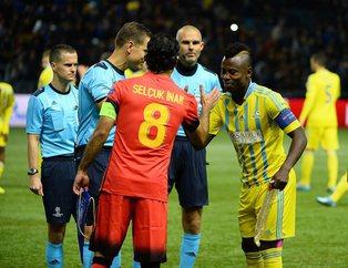 Astana-Galatasaray maçından kareler