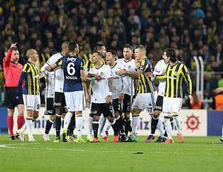 Fenerbahçe-Beşiktaş derbisinden kareler
