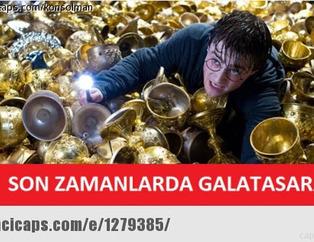 Galatasaray kupay� ald� capsler patlad�