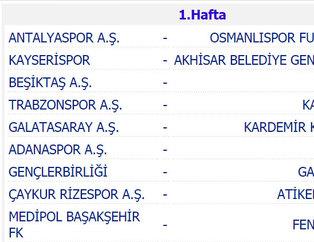 Süper Lig 2016-17 sezonu fikstürü belli oldu!