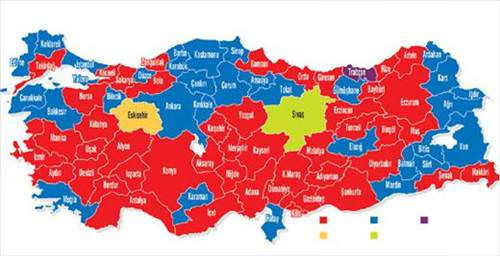 Türkiye'nin il il taraftar haritası