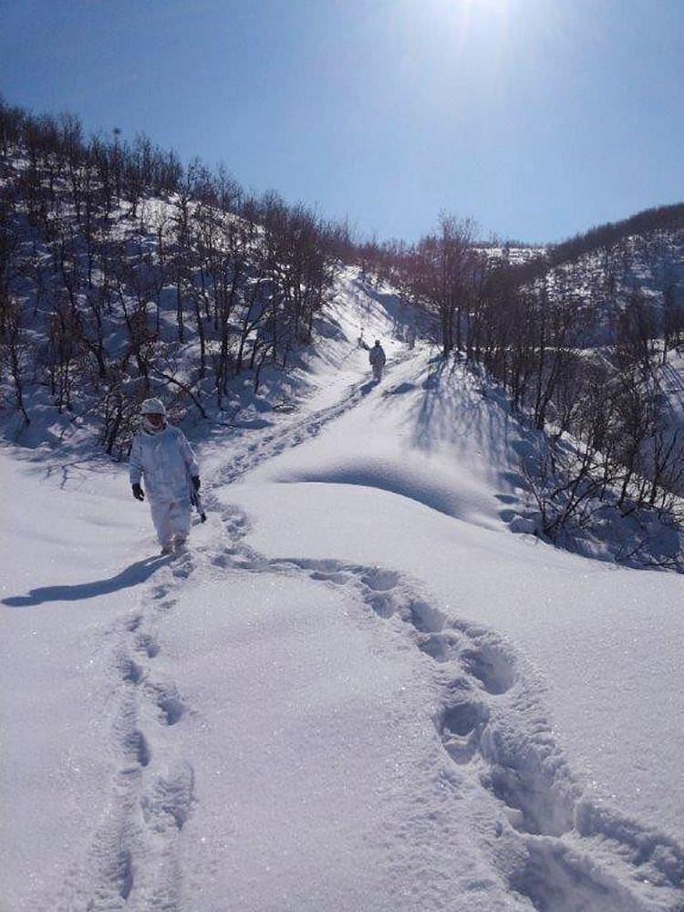 Bingöl'de ağır kış şartlarında PKK'ya operasyon