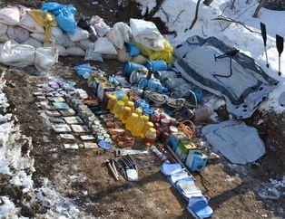 Bingöl'de PKK'nın silah deposu çökertildi