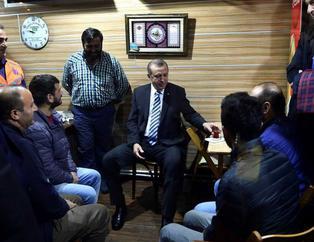Cumhurba�kan� Erdo�an, Tarabya'da minibüs dura��n� ziyaret etti