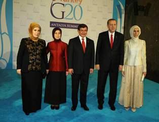 Davutoğlu'ndan G-20 liderlerine resepsiyon