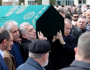 Erdoğan cenaze namazına katıldı
